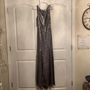 Dresses & Skirts - Silver open back bridesmaids dress